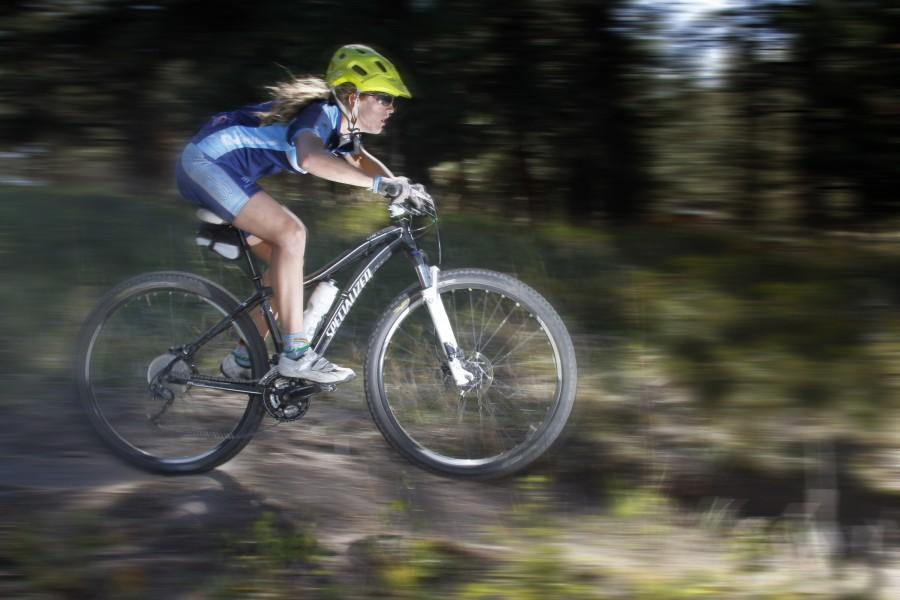 Elizabeth McInroy finished 7th overall in the JV Division of this year's Colorado High School Mountain Biking competition.