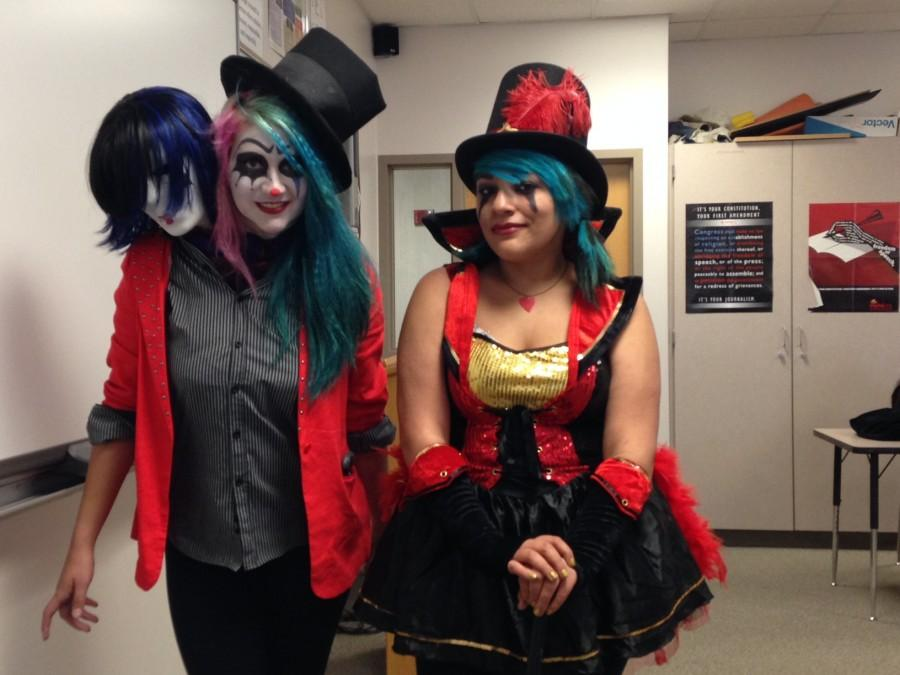 Junior Lauren Toon and senior Tayla Madrid certainly aren't too old to celebrate Halloween.