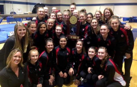 The Pomona Panthers gymnastics team, with five RV members, shattered the state record to win the 2015 Class 5A State Gymnastics Championship