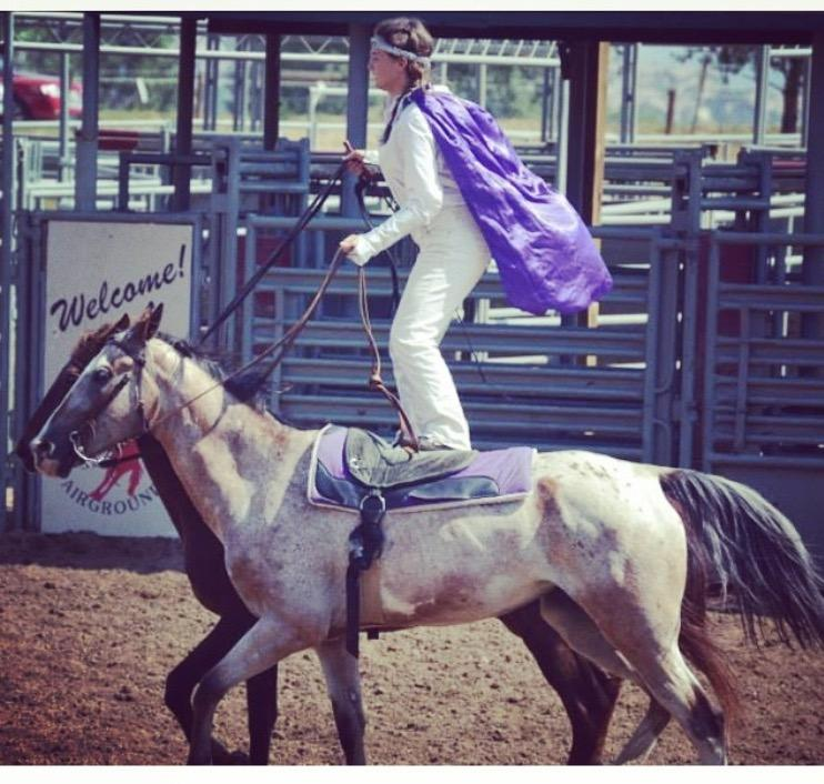 An RV student and horse lover, Melanie Kurtz will be competing this month at the National Western Stockshow in Denver as part of her Westernaires team.
