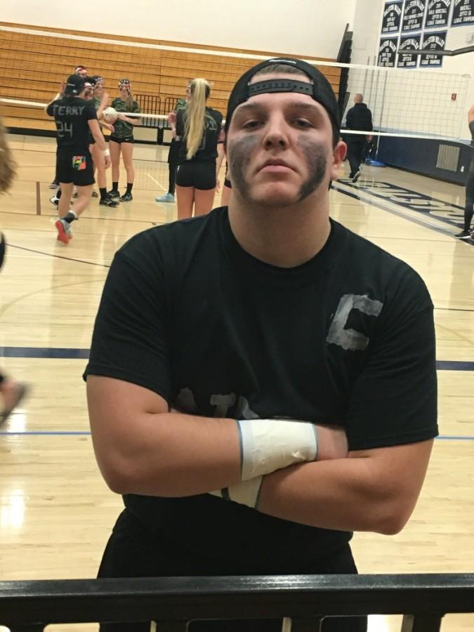 From freshmen year, to senior year, Reed has played in the annual volleyball tournament each year.