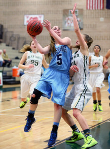 Ashley Van Sickle is one of the reasons the Mustangs are ranked No. 6 in the state and currently stand 15-2. Earlier this season, against Bear Creek, Van Sickle recorded a rare quadruple-double in the team's 73-30 victory.