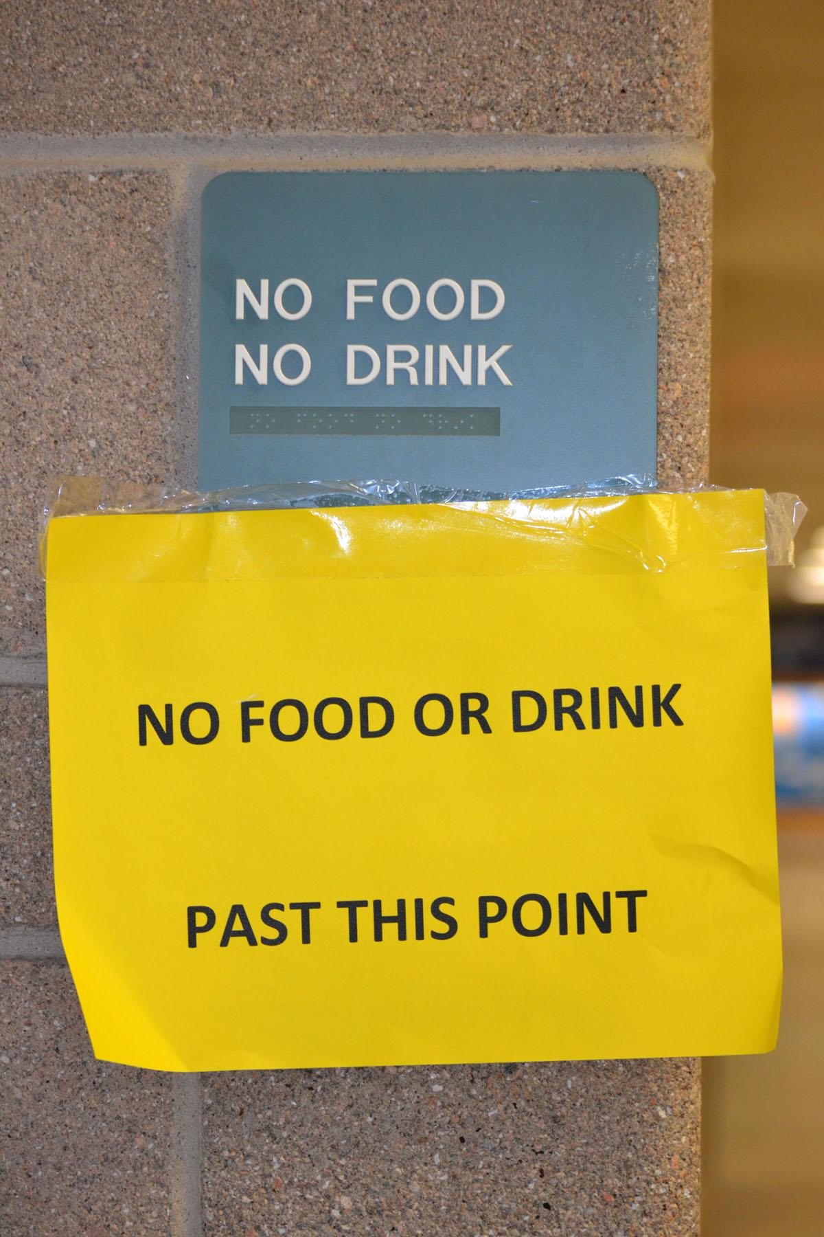 Their is an added emphasis this school year on keeping the building in upstanding physical condition. That said, staff is cracking down on rule prohibiting food in the hallways and classrooms.