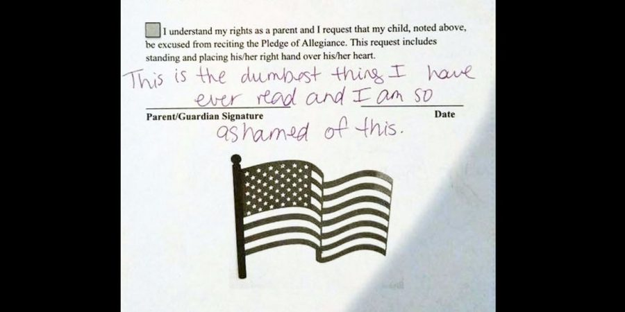Permission Slip to Say the Pledge