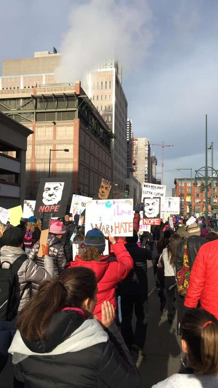 The women's march in Denver allowed nearly 100,000 local residents to peacefully voice their opposition to some governmental proposals under President Donald J. Trump.