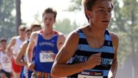 RV senior Nick Nowlen gets off to a great start during the Centaurus Invitational held on Saturday, Sept. 2. Nowlen, who also plays soccer for the Mustangs, finished 13th in the first race of the year in a time of 17:00.00.