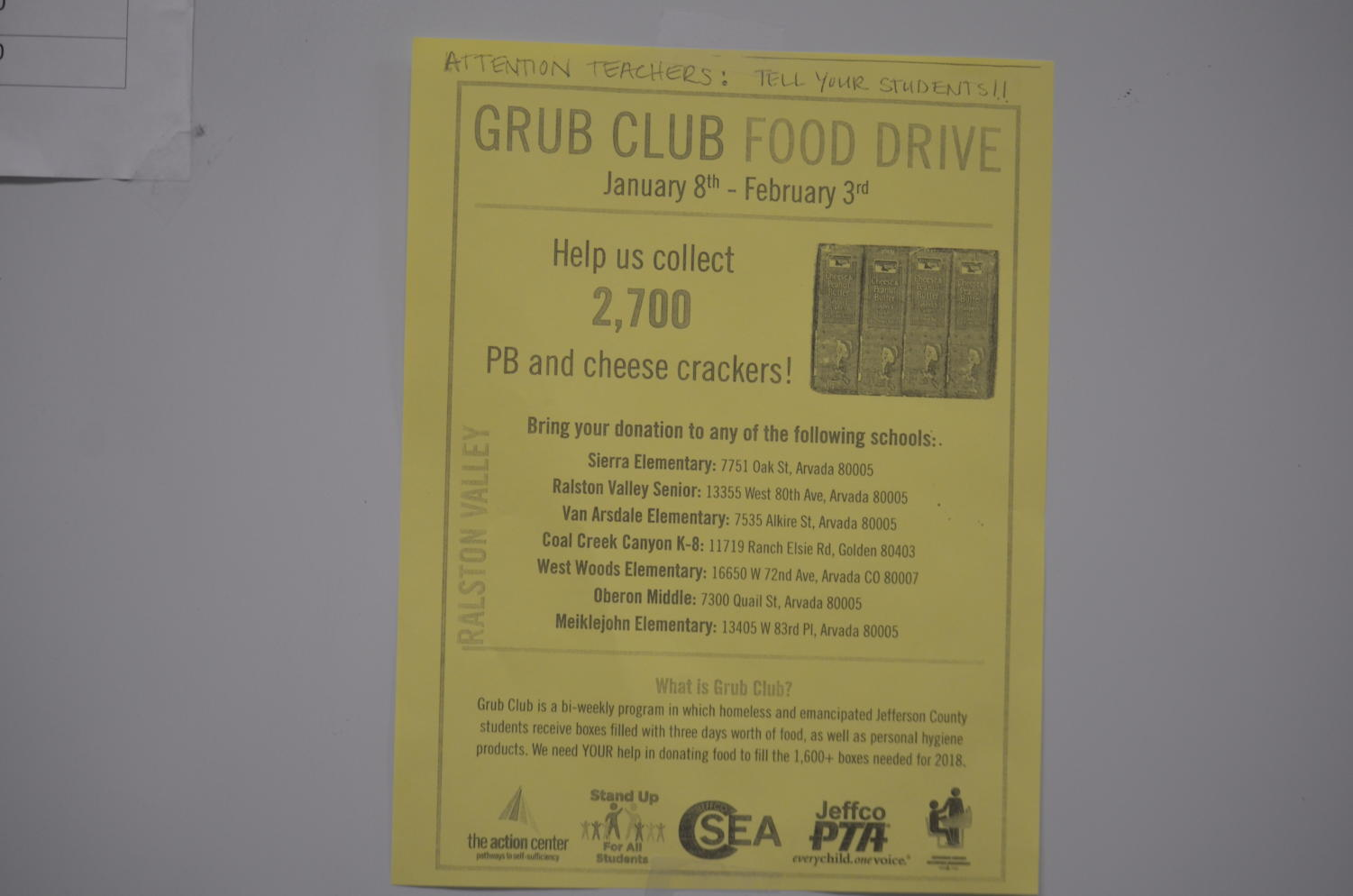 Looking to help out some teens in need? RV, along with other area schools, are helping collect food for kids who are in need.