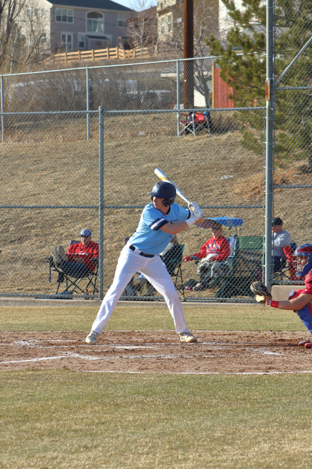 RV baseball opened up at home this year, falling 8-4 to top-ranked Cherry Creek. The Mustangs are heading out to Arizona for spring break, and four games in three days.