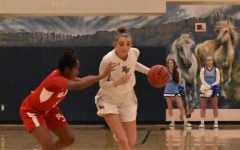 Junior Sydney Bevington had 14 points against Regis Jesuit in the Mustangs 54-41 loss on January 8, 2020.